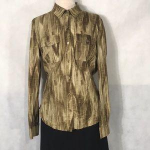 """""""Michael Kors"""" gold button up shirt"""